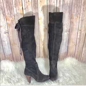 Joy & Peace Brown Thigh High Boots Size 5.5